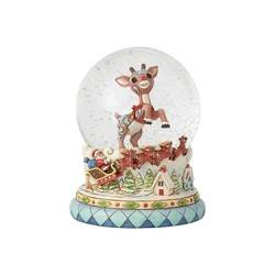 Rudolph and Santa's Sleigh Waterball