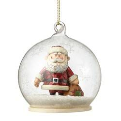 Santa in Dome Hanging Ornament