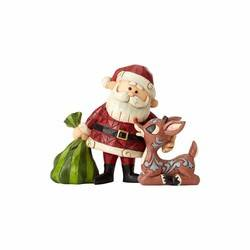 Santa With Rudolph and Bag