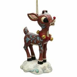 Snow Covered Rudolph Hanging Ornament