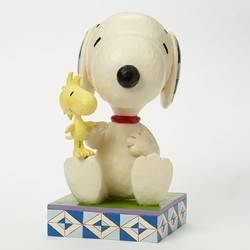 Friendship Comes In All Sizes - Snoopy With Woodstock Statue