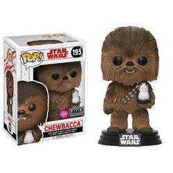 Chewbacca and Porg Flocked