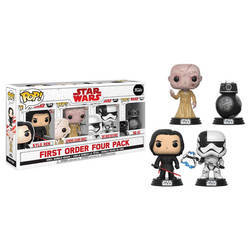 4 Pack - Kylo Ren, Supreme Leader Snoke, First Order Executioner and BB-9E