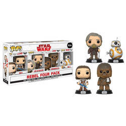4 Pack - Rey, Luke Skywalker, Chewbacca and BB-8