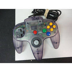 Manette Nintendo 64 Clear Black