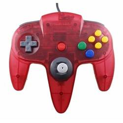 Manette Nintendo 64 Clear Red