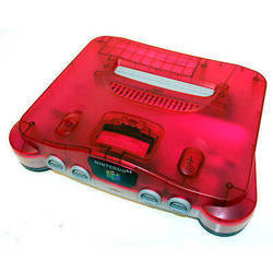 Nintendo 64 Clear Red