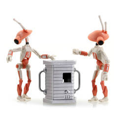 Pit Droids 2-pack with accessory 1 (orange)