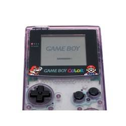 Game Boy Color Jusco Clear Purple with Mario Artwork