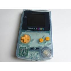 Game Boy Color Tsutaya Water Blue with Orange Buttons