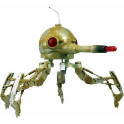 Spider Droid with Rotating Turret and Firing Cannon