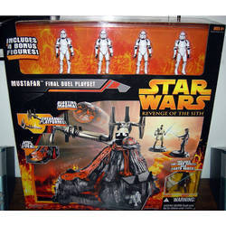 Mustafar Final Duel Playset + 6 figures