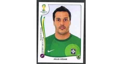 PANINI 34 Julio Cesar BRASIL FIFA WORLD CUP 2014 Brasile