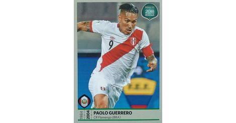 2018 Pegatinas de álbum de Rusia Panini World Cup #248 Paolo Guerrero Perú Fútbol Tarjeta