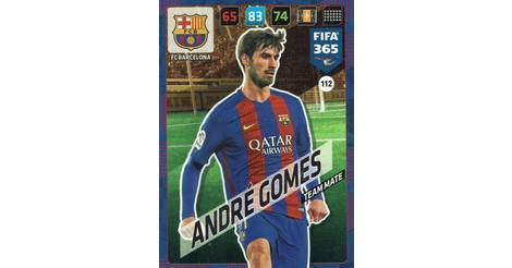 PANINI ADRENALYN XL FIFA 365 cards 2018-112-André Gomes-FC Barcelone