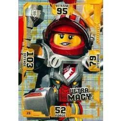 Lego Nexo Knights cartes de collection Ultra Macy-héros carte 15