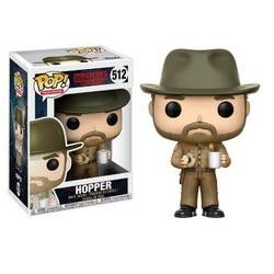 Stranger Things 2 - Jim Hopper With Hat and with his coffee and donut