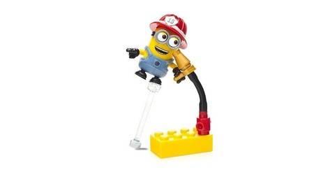 Phil pompier figurine serie 8 minions mega bloks - Minion pompier ...