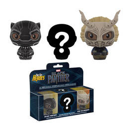 Black Panther - Black Panther, Erik Killmonger and mystery one 3 Pack