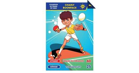 Charly boomface champion de tennis de table cartes - Champion du monde de tennis de table ...