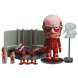 Colossal Titan and Attack on Titan Playset