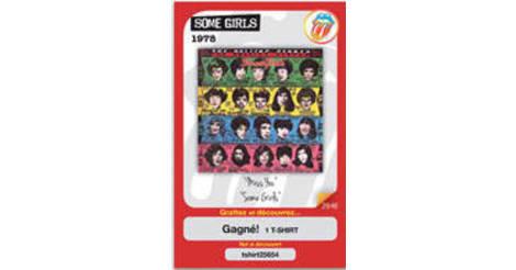Album Some girls - carte 029 Carrefour Market-Les jours star-Les Rolling Stones (2012)