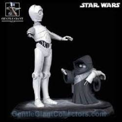 Animated C-3PO with Jawa Black and White