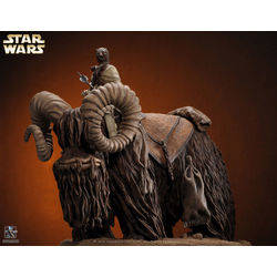 Bantha and Tusken Raider