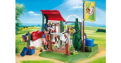 Box de lavage pour chevaux playmobil quitation 6929 - Douche pour chevaux playmobil ...
