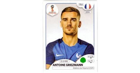 antoine griezmann france fifa world cup russia 2018 sticker 207