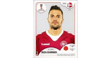 Riza Durmisi Sticker 262 Panini WM 2018 World Cup Russia Dänemark