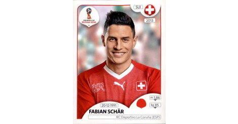 Sticker 380 Fabian Schär Panini WM 2018 World Cup Russia Schweiz