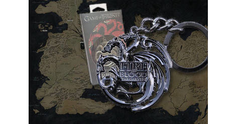 TARGARYEN porte-clés (gris acier) - objet NNXT0046 Noble Collection   Game  of Thrones 44947b64151