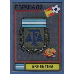 164 Argentina Logo Emblem Rec Sticker Panini Espana 82 WC 1982 NO