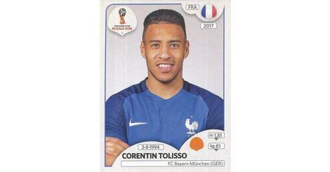 102 CORENTIN TOLISSO FRANCE OL OLYMPIQUE LYON CARD ADRENALYN 2016 PANINI