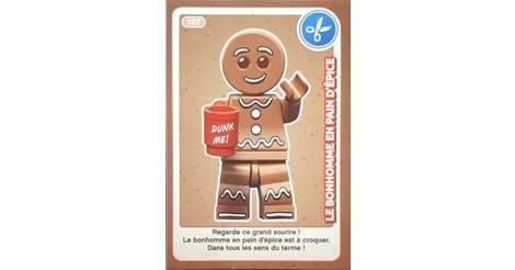 Le Bonhomme En Pain D Epice Cartes Lego Auchan Cree Ton Monde 107
