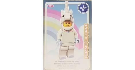 Carte Lego Auchan Livre.Femme Licorne Cartes Lego Auchan Cree Ton Monde 064