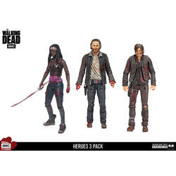 Michonne Rick and Daryl 3 Pack