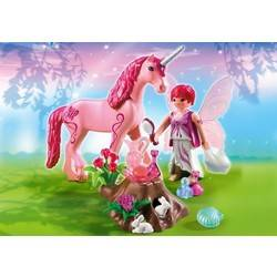 Care Fairy with Unicorn 'Rose Red'