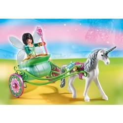 Unicorn carriage with butterfly fairy
