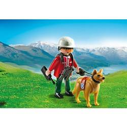 Mountain Rescuer with Search Dog