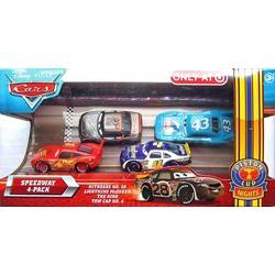 Speedway 4 Pack - Nitroade No.28, Lightning McQueen, The King &T own Cap No.4