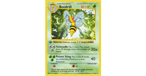 1999 Pokemon Cards EX Beedrill #17//102 BASE set