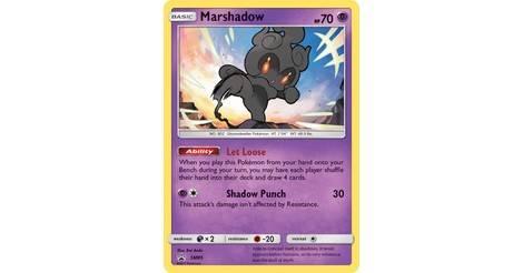 POKEMON SM Burning Shadows 080//147 Marshadow GX