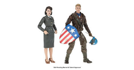 Captain America And Peggy Action Figure
