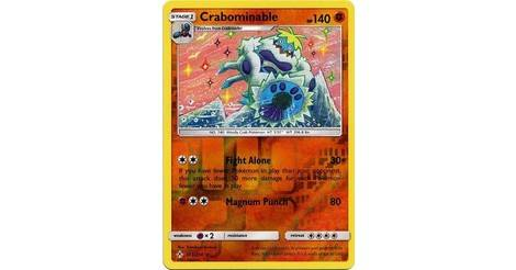 Pokemon SM UNBROKEN BONDS CRABOMINABLE 105//214 RARE REVERSE