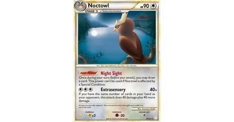 Rare NM Heart Gold Soul Silver Pokemon Noctowl 8//123