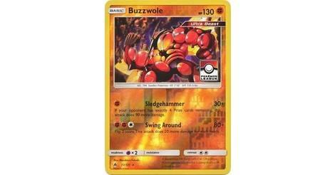 Pokemon League Pokemon TCG BUZZWOLE Holo Rare Forbidden Light 77//131
