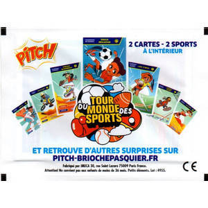 Cartes Tour du monde des sports (Pitch - Brioche Pasquier)