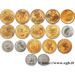 10 francs commemoratives